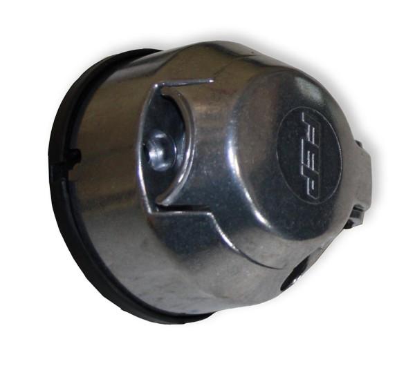 Steckdose mit Schutzkappe, Anhängersteckdose, 7-polig