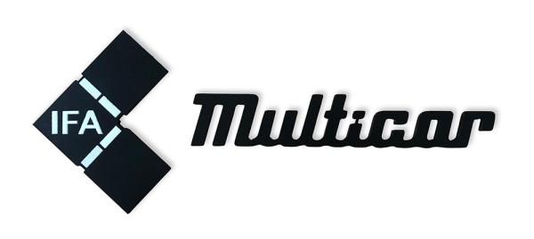 Multicar M25 Schriftzug / Emblem (Kunststoff), Originaloptik