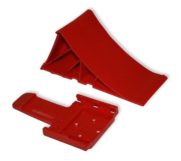 Multicar M22 Vorlegekeil mit Halterung, rot