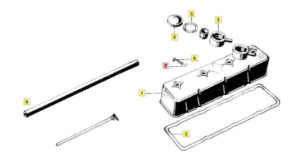 Multicar M25 Dichtung / Scheibe Ventildeckelschraube